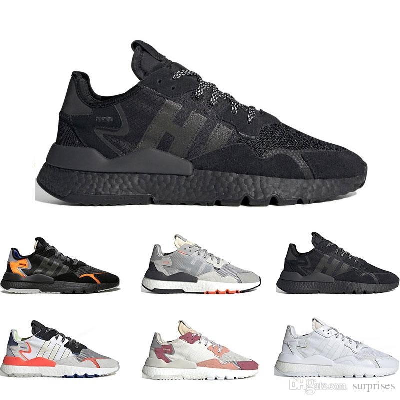 New running shoes for men Nite Jogger BLACK AND GREY black orange GREY PACK triple black white grey red ICE MINT 36-45