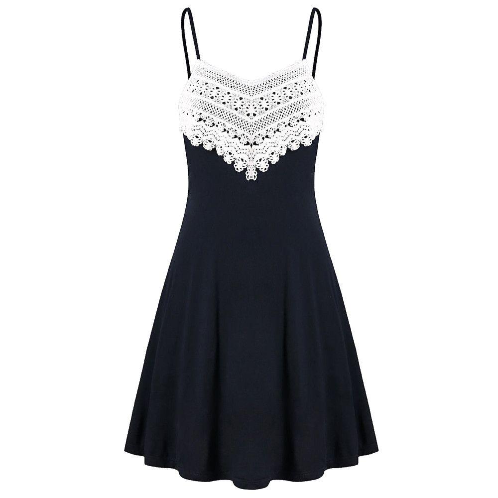 f9f7fb2c5a3 Correa Backless Dress Corto Mujeres Crochet Lace Mini Slip Sling Vestidos  2019 Verano Sin Mangas Vestido Casual Vestidos Women Dressing Cute Sundress  From ...