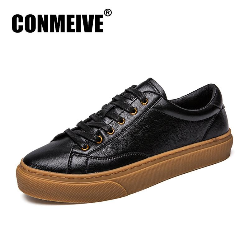 645f332b8d7d 2018 New Fashion Casual Mens Shoes Soft Comfortable Leather Man Flat Shoes  Breathable Light Adult Lace Up Trainers Footwear Geox Shoes Dress Shoes For  Men ...