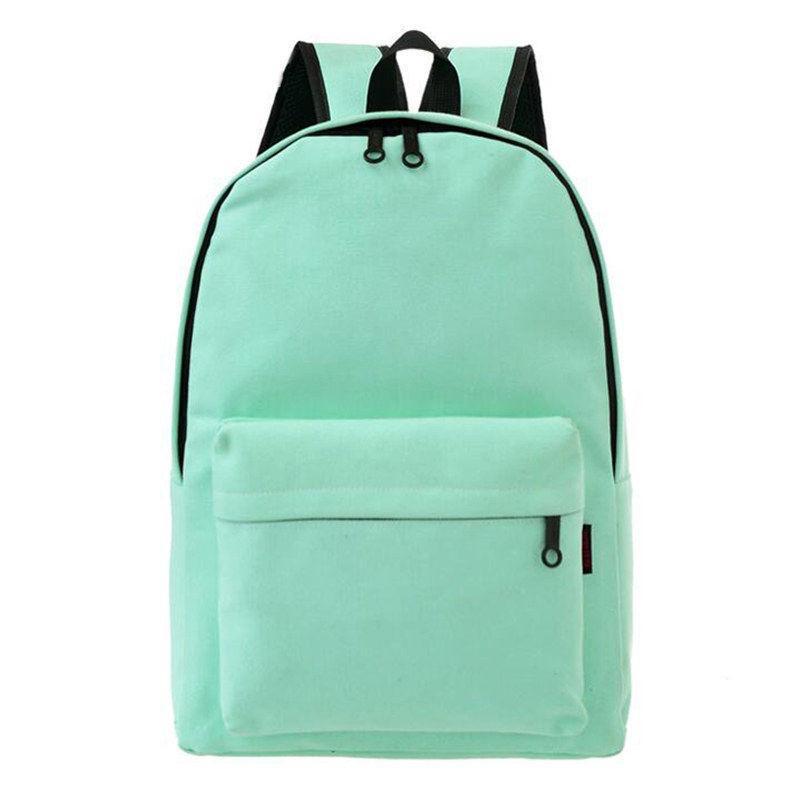 ff4bd3683717 Canvas Travel Backpack Fashion Adolescent Girls Knapsack Female Best Women  Shoulder Bag Casual School Pure Color Rucksack Rucksack Backpack Boys  Backpacks ...