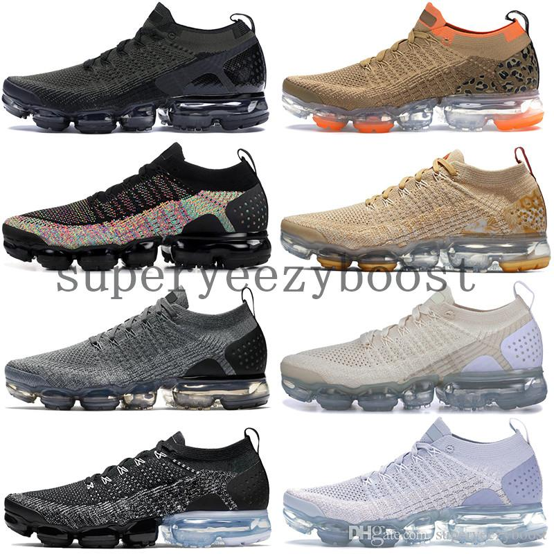 sports shoes 7f716 a507a Acheter 2019 Nike Vapormax FlyKnit 2.0 Chaussures De Designer Pour Hommes  Cleatah Volt Orca Diffuse Taupe Chaussures De Course Womens Safari Dusty  Cactus ...