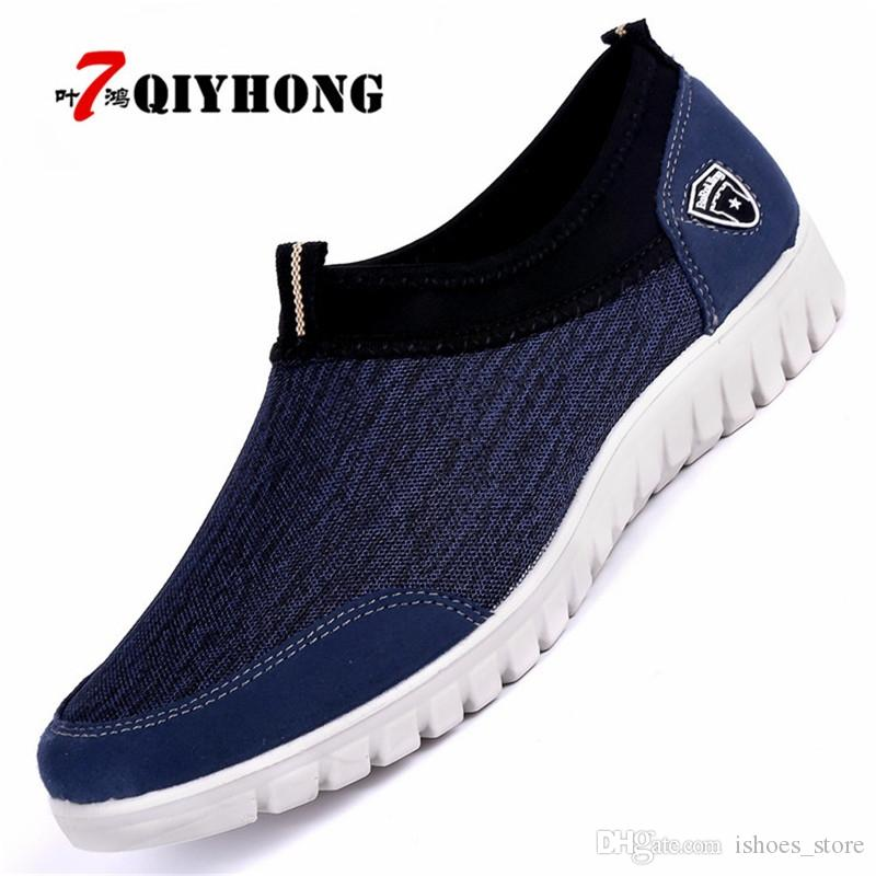 2018 New Spring And Autumn Mens Single Mesh Shoes Casual Shoes A Pedal Comfortable Soft Bottom Lazy Shoes Mens Shoes Men Men's Shoes Men's Casual Shoes