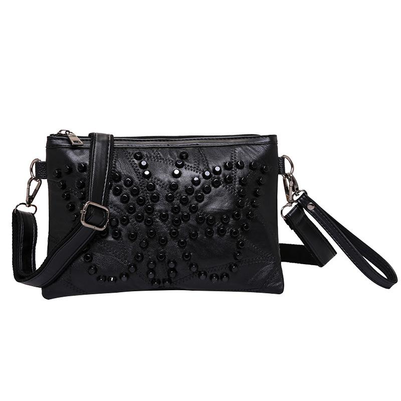 6afb27c2017a Black Design Clutch Bags Women Skull Rivet Envelope Fashion Messenger Bag  Women S Crossbody Bag PU Leather Shoulder Bags Ladies Shoulder Bags  Designer ...