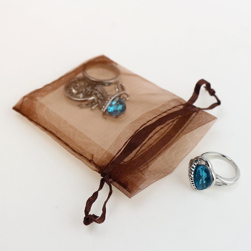 sacchetto della caramella 9x12 cm piccole borse in organza drawable sacchetti di imballaggio dei monili sacchetti regalo sacchetti di nozze 5ZSH313