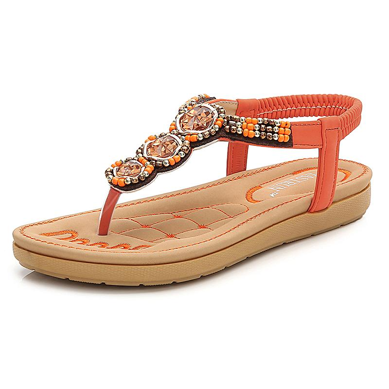 06b2691f503e Women Sandals New Fashion Flip Flop Rhinestone Flat Shoes Woman ...