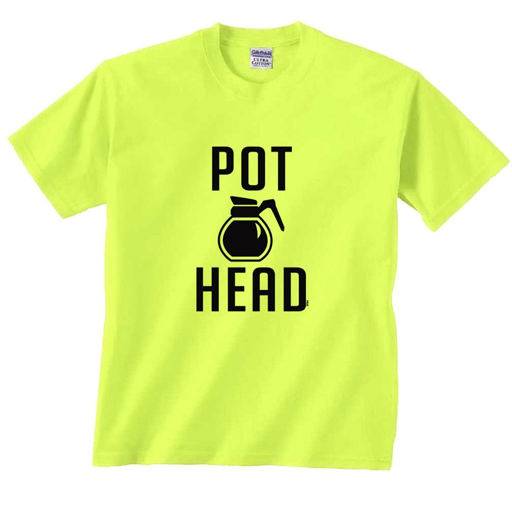46e86099184 Pot Head Coffee Funny T Shirt Funny Unisex Casual Tee Gift Political Tee  Shirts Funny Political T Shirts From Tshirtsinc