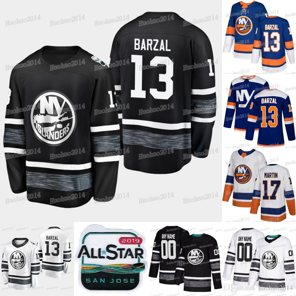 633f6fd23 2019 2019 All Star New York Islanders Anders Lee Matt Martin Leo Komarov  Eberle Thomas Hickey Ryan Pulock Mathew Barzal Josh Bailey Hockey Jersey  From ...