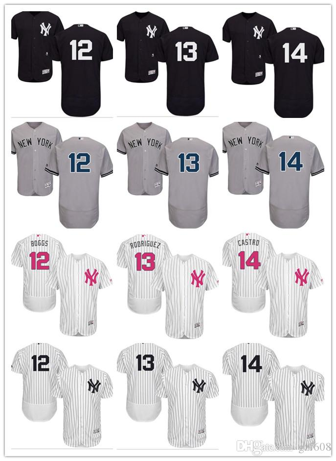 new product 17cf4 cb7d5 custom Men s women youth New York Yankees Jersey #14 Starlin Castro 13 Alex  Rodriguez 12 Wade Boggs 12 Chase Headley Baseball Jerseys