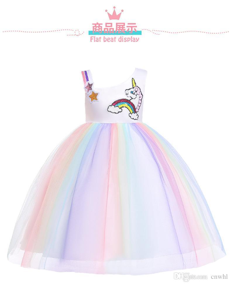 5d9b2977a459 Acquista Unicorn Dress For Babys Girl Princess Dress Unicorn Party Girls  Pasqua Bambini Abiti Ragazze Vestiti A  17.59 Dal Cnwhl