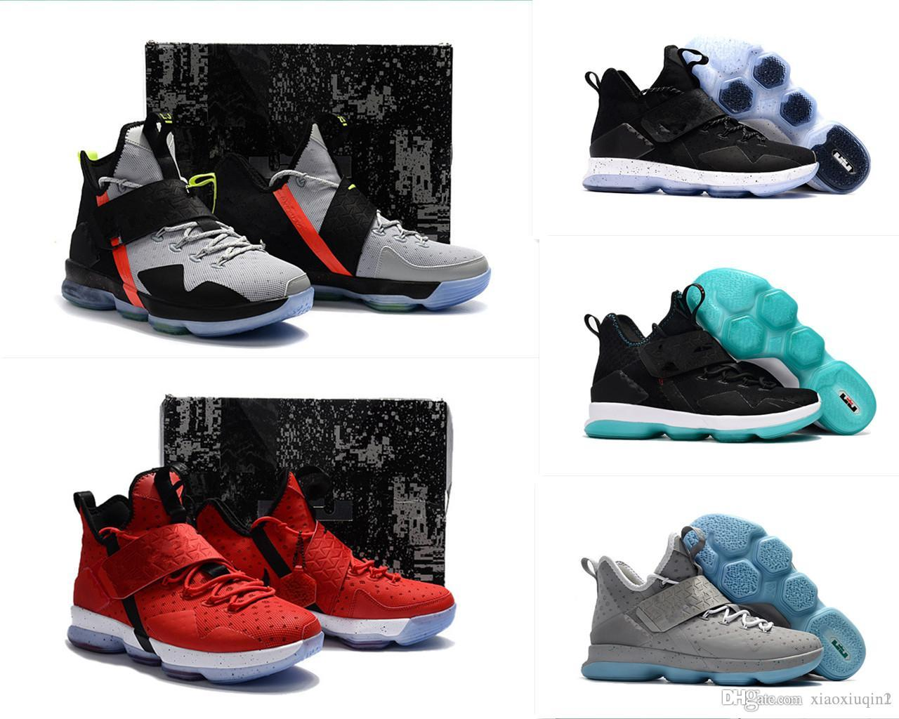 finest selection b4ced 8e317 Lebron 14 Xiiii mens basketball shoes for sale MVP Christmas BHM Oreo youth  kids Generation sneakers boots with original box Size 7 12