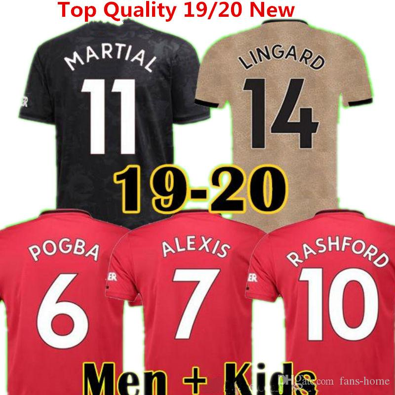 buy popular 9e728 3b0c1 Pogba Soccer Jersey Manchester 2019 2020 Football Shirts LINGARD LUKAKU  RASHFORD United Uniforme de futbol Man Shirts Goalkeeper Ninos kids