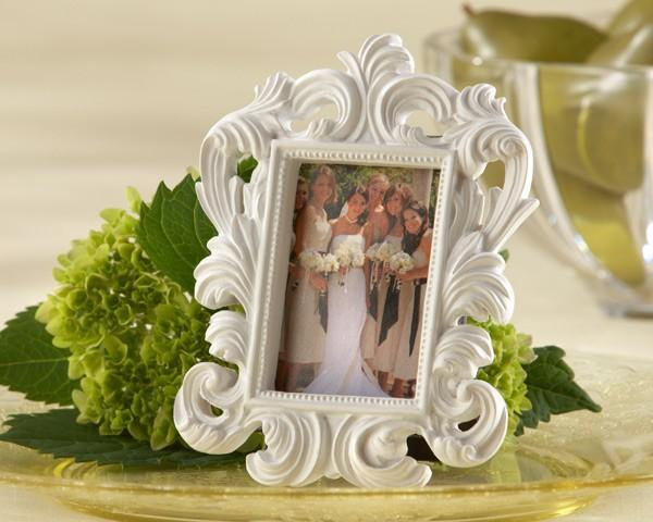 Cheap Wholesale White Baroque Photo Frame Elegant Wedding Place Card Holder Or Picture Frame 100pcs /Lot Free Shipping