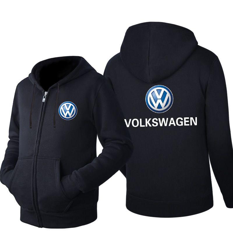 Volkswage hoodie Spring Sweatshirt Fashion Men Sports Casual Wear Men s Hooded Hoodie Zipper Sweatshirt Male Hoody Cardigan hoodie Tracksuit