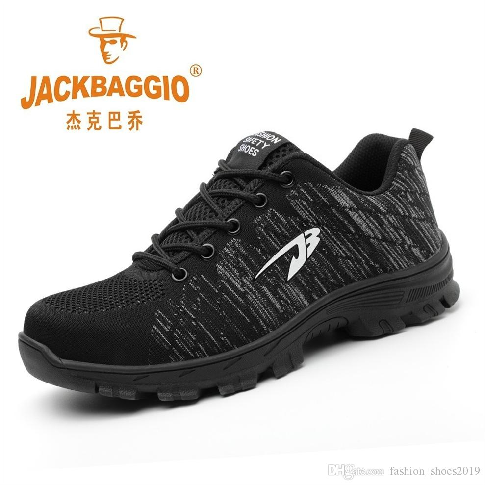 b89be2f5ae5 Men Women Safety Shoes Steel Toe Work Shoes Lightweight Breathable Sneaker  Casual Foot Wear Black Men Safety Boots Rubber Sole #346825
