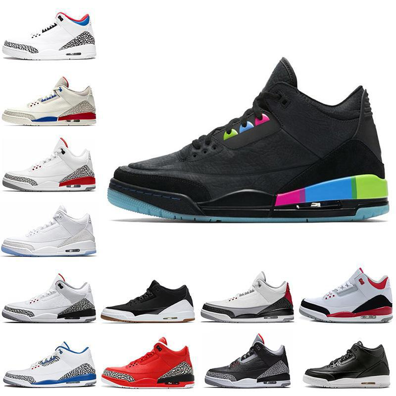 2018 54 3s Basketball Shoes Pure White JTH Seoul Tinker Q54 International Flight Black Cement Grateful Cyber Monday Men Sports Sneakers