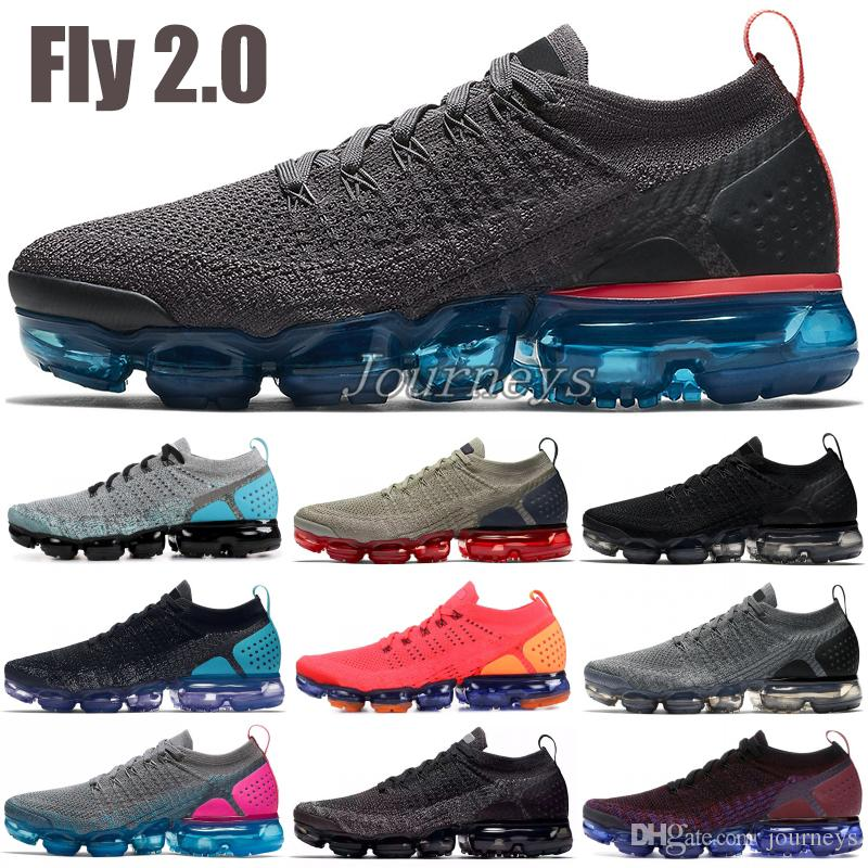 dd0d0bd7455 2019 2019 New Fly 2.0 Running Shoes Men Women Thunder Grey Reverse Orca BHM  Oreo Knit 1.0 Designer Shoes Sports Sneakers US 5.5 11 From Journeys, ...