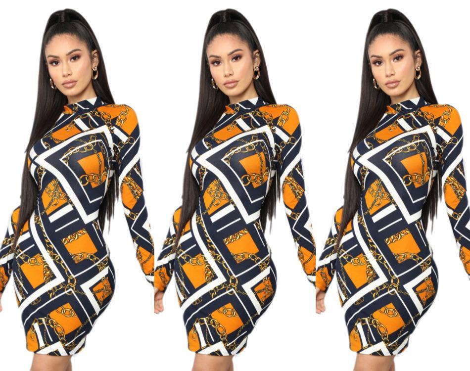 7cc48315e Compre Fm6023 2019 Ropa De Mujer Collar De Oro Hijo Vestido De Impresión  Discoteca Mujer Verano 2019 Nuevo A  18.76 Del Morning  sun05