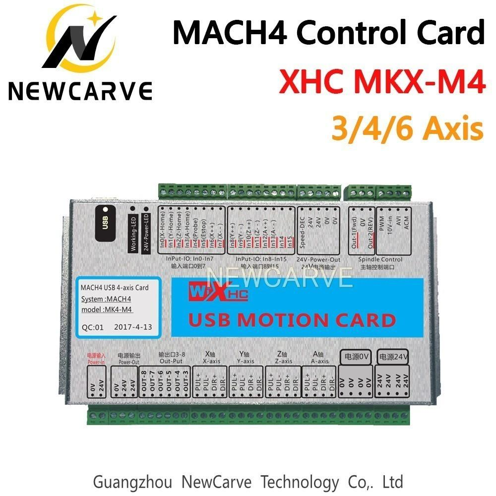 XHC Mach4 Newest Breakout Board 3 4 6 Axis USB Motion Control Card MKV-M4  2000KHz For CNC Router/ Cutting Machine NEWCARVE