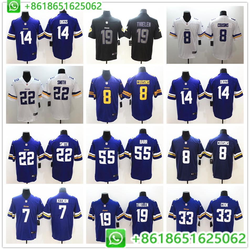 quality design c84a1 dc3af Men Minnesota Kirk Cousins Harrison Smith Adam Thielen Stefon Diggs Vapor  Untouchable Limited Player Jersey BHR01