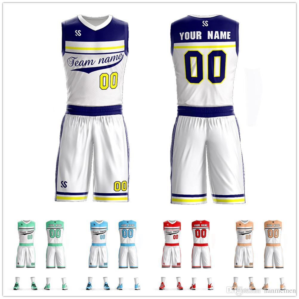 bb06dc0c2 2019 Mens Youth Basketball Jerseys Custom Kids Basketball Clothes  Breathable Team Sport Tracksuit Sleeveless Sportswear DIY Uniforms From  Hanmeinen