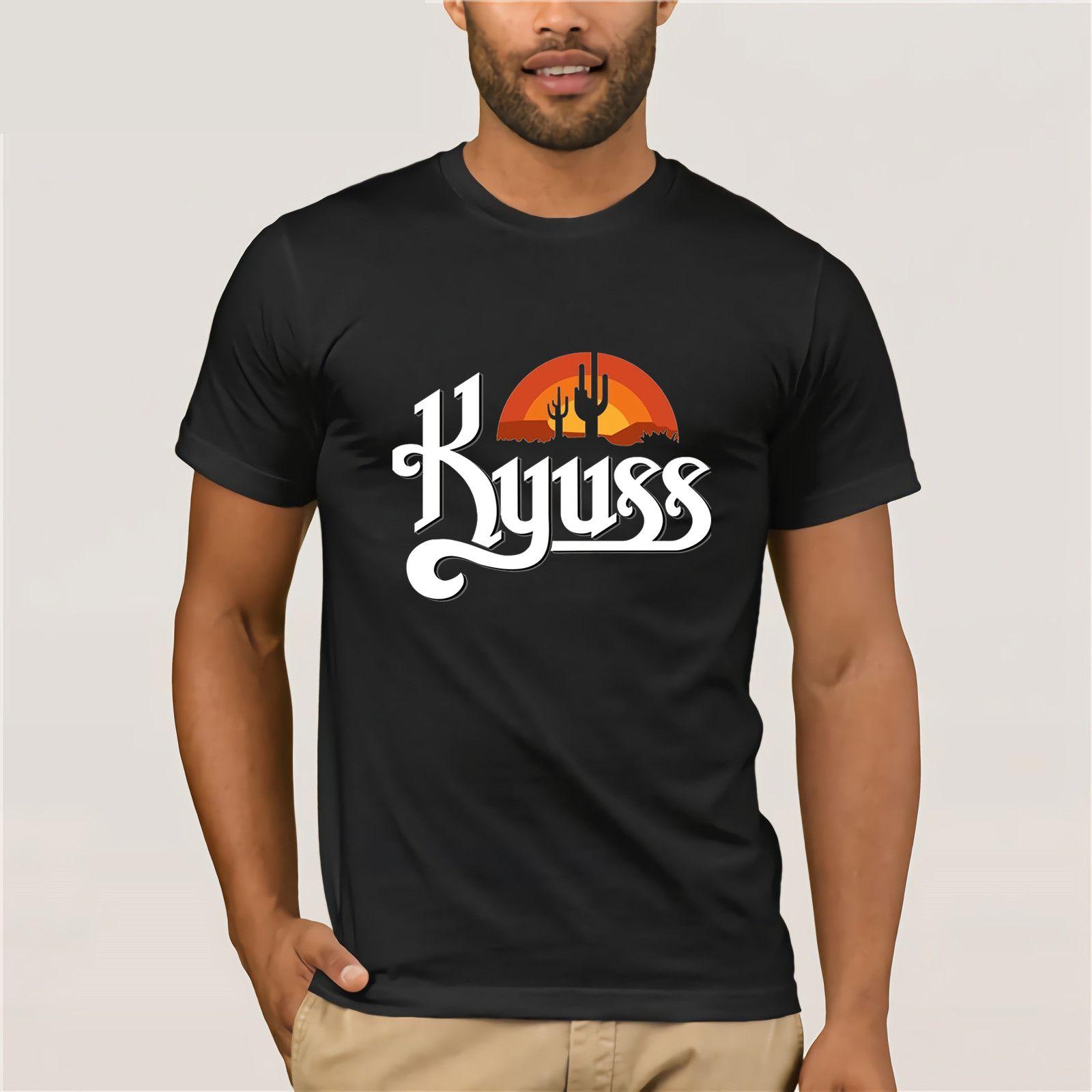 Stoner Rock Southern Bnad camiseta Kyuss T shirt Moda Casual Tees de Verão  Homme Camiseta Streetwear VENDA QUENTE