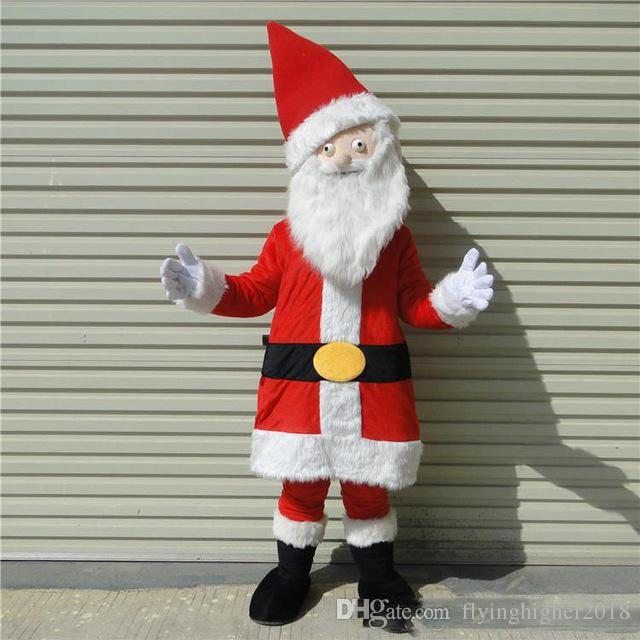 Professional Custom Santa Claus Mascot Costume Christmas Old Man Character Clothes Christmas Halloween Party Fancy Dress