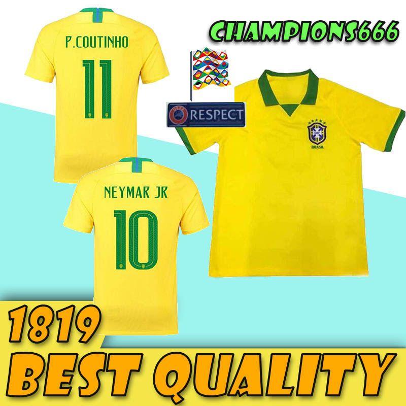 2019 2019 20 Brasil Soccer Jerseys Men Brazil Jersey 2019 2020 JESUS  COUTINHO FIRMINO MARCELO Football Kit Shirt Camisa Football Shirt G.JESUS  From ... 4caa2749e