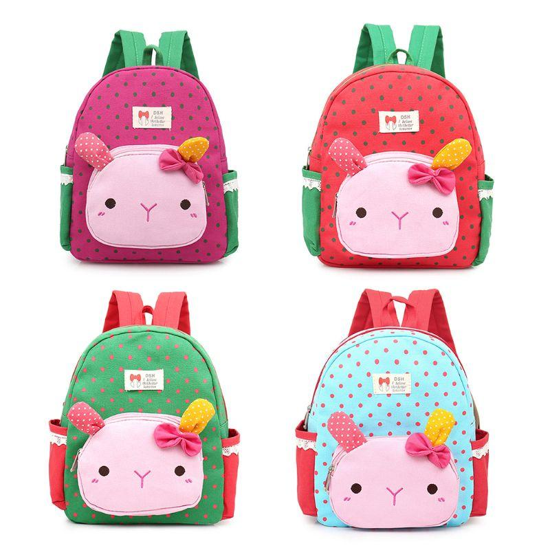 2494943eae4f Cute Rabbit Toddler Girls Backpacks Kids School Bags Children Preschool  Lunch Bags