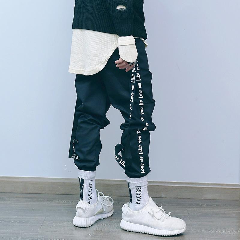 Mens Pants 2019 New Streetwear Fashion Casual Removable Ribbon Pants Men Brand Street Style Hip Hop Pants Trousers