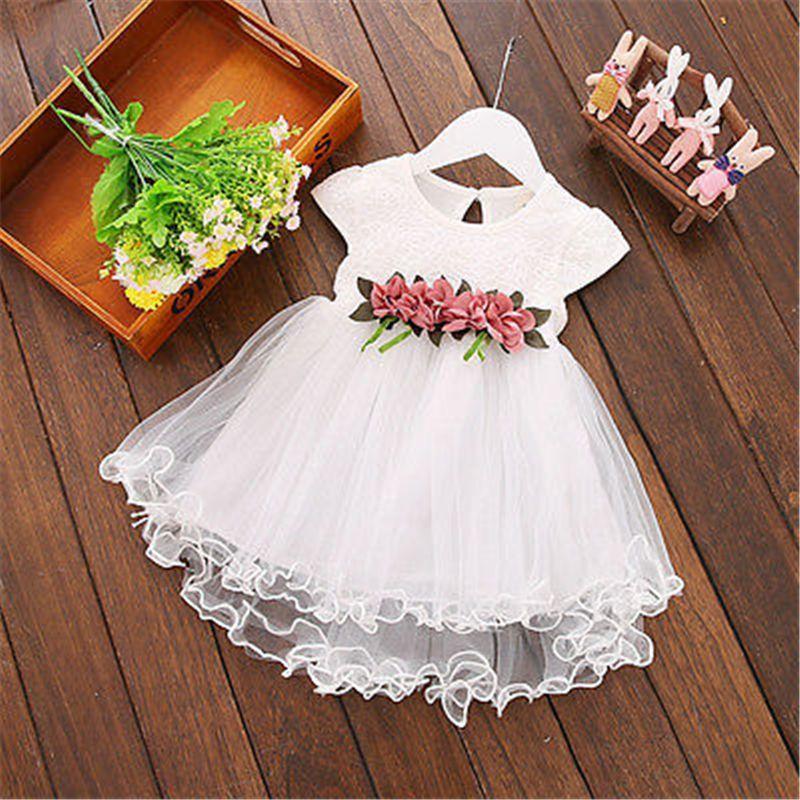 96f4d8295c Leisure Fashion Toddler Kids Baby Girls Floral Princess Wedding ...