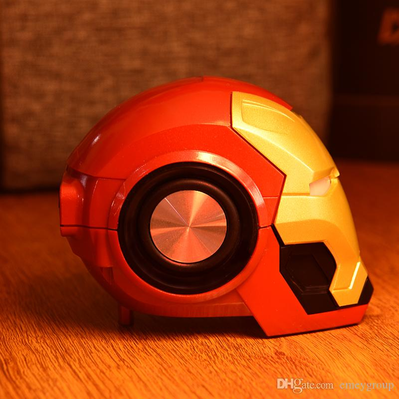 Iron Man Bluetooth Speaker & Radio Wireless Bluetooth V4.2 Speakers With Music MP3 With FM Radio Support TF Card For Phone PC