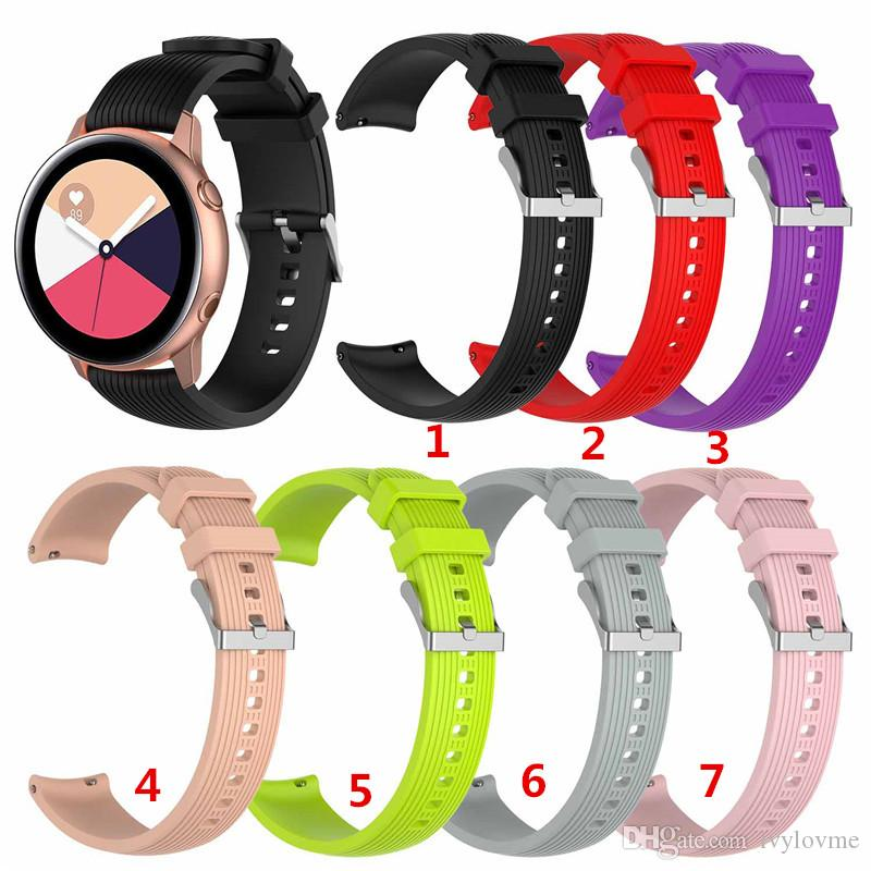 For Galaxy Watch active 20mm silicone band for Samsung Galaxy Watch 42mm  watches strap Replacement 20mm Bracelet smart wristband