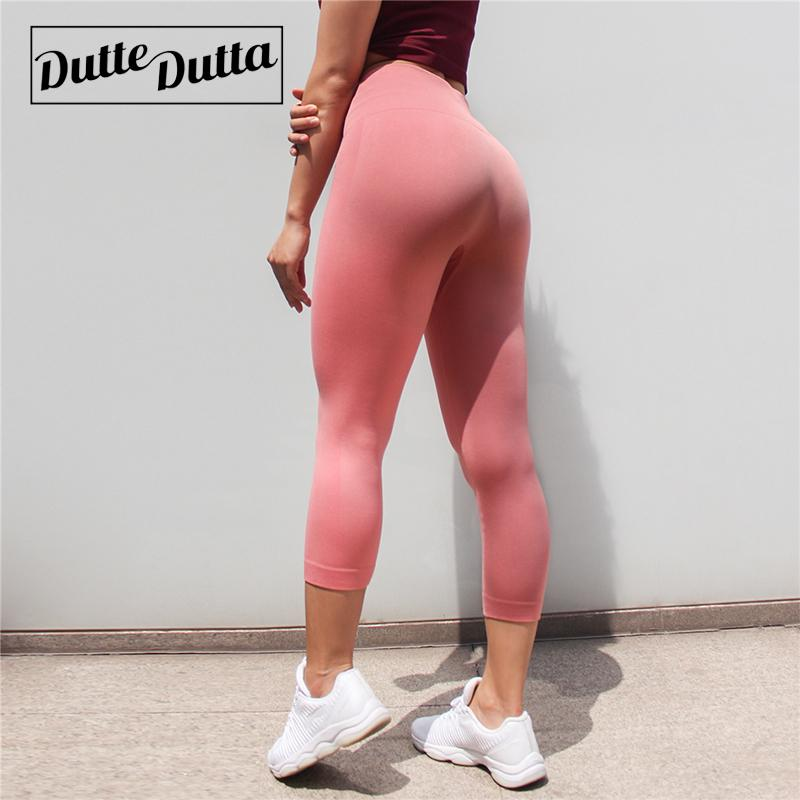 Tights Sportswear Woman Gym Yoga Pants Sports Wear Leggings For Fitness Leggins Sport Women High Waist Capris Women's Legging C19032801