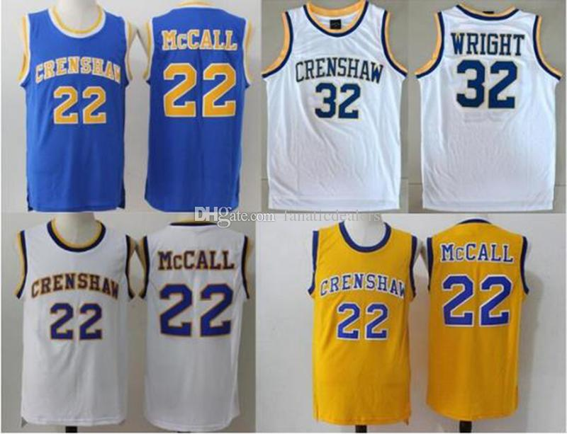 5923e9e554ab 2019 22 Quincy McCall Crenshaw High School Jersey Love And Basketball  Monica Wright 32 Crenshaw Movie Jerseys From Fanaticdealers
