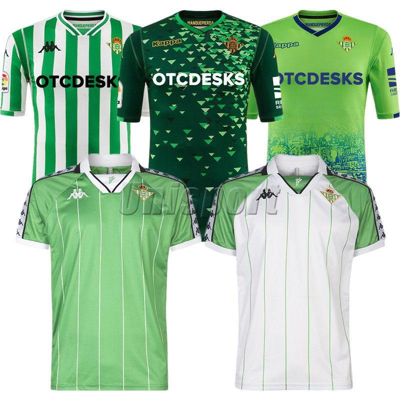 Compre 2018 19 Real Bétis Camisas De Futebol Bartra Joaquín Tello Futbol  Camisetas Camisa De Futebol Retro Camisa Do Vintage Kit Clássico Maillot De  ... 570d5105d98