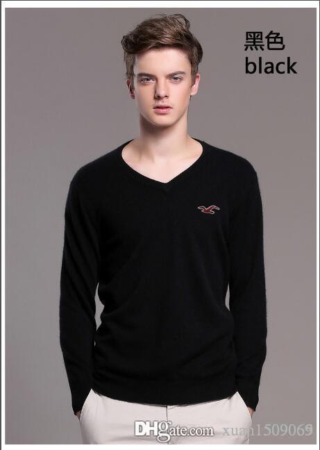 32809cdf7c2c Men's Thin V-neck Pure Color Korean Version of Sweater Men's Heart ...