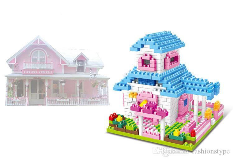 New Arrival Kids Mini Bricks Block Puzzle Princess Castle DIY Kids Educational Toys Fashion Children Gift Mix Style