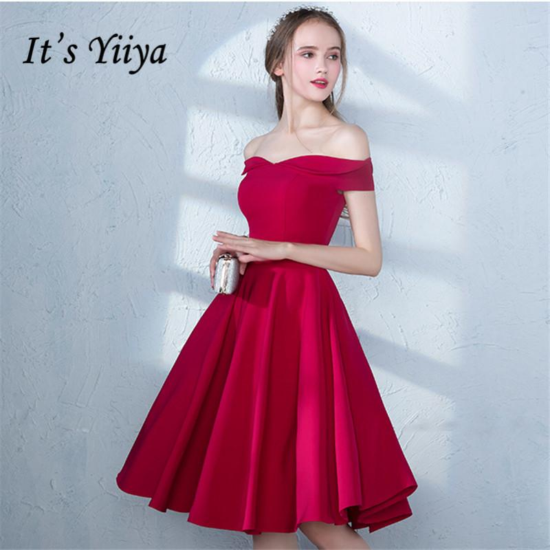 9a58406c7536b It s YiiYa 2018 Popular R Off The Shoulder Fashion Designer Elegant  Cocktail Gowns Knee-Length Cocktail Dress