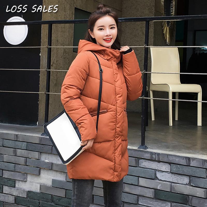 ec7096a43 Parkas winter jacket women Coat 2018 Fashion Cotton Padded Jacket Long  Style Hood Slim Parkas Plus Size Thicken Female Outerwear