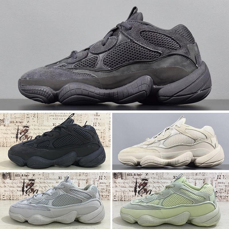 best service 9f7b2 141ec 2019T New Salt 500 Kanye West Running Shoes With Original Box 2019 Designer  Men Shoes Super Moon Yellow Blush Desert Rat 500 Sport Sneakers