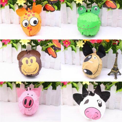 Reusable Foldable Ladies Shopping Bag Animal Tote Handbag Fold Away Bag