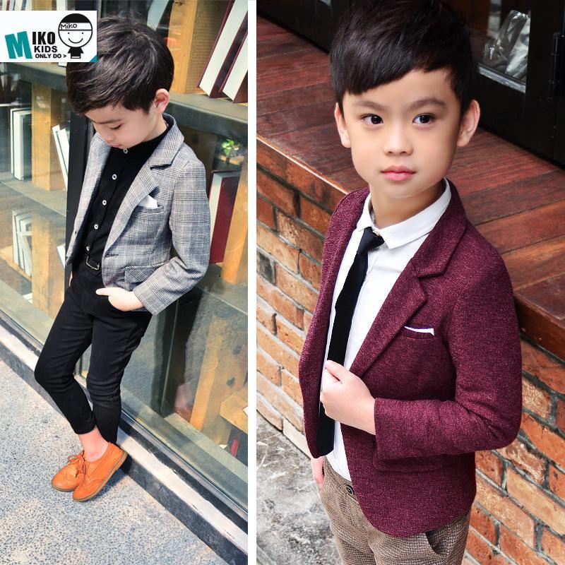 e3817ada902a Baby Boys Blazers Boy Clothes Formal Blue Dress Kids Blazer Kids ...