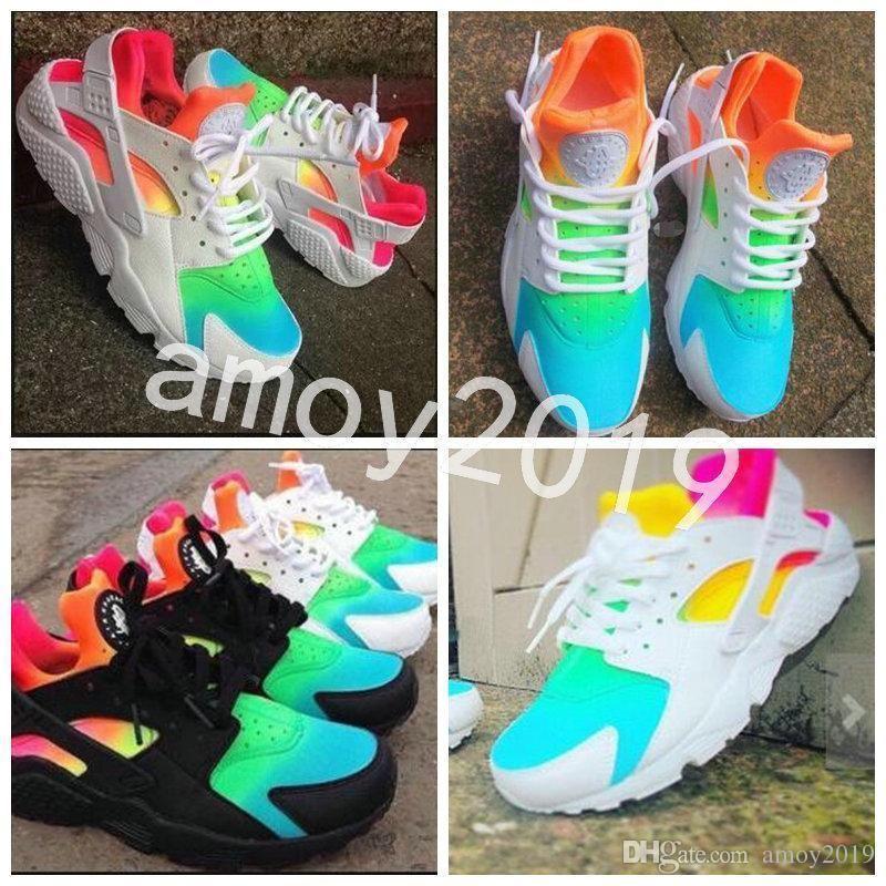 sports shoes 8f50e ce13a New Air Huarache 1 Ultra Running Shoes Huaraches Rainbow Hurache Breathe  Shoes Men Women Huraches Zapatos Trainers Sneakers Size 36-46