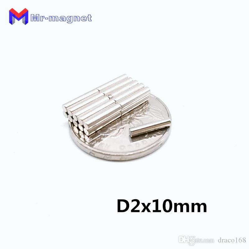 10pcs 2 x 10 mm magnet small Round N35 D2*10 environmental production D2x10 Neodymium magnets 2x10 Super Powerful Rare Earth magnet
