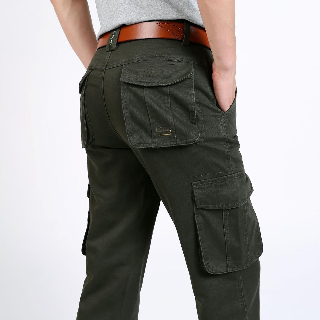 411f3b8552 Compre Pantalones Cargo Hombres Sueltos Pantalones Casuales Para Hombres  Más El Tamaño 42 44 Multibolsillo Para Hombre Táctico Del Ejército Verde  Caqui A ...