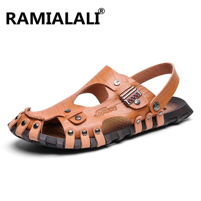 e2f1b8b9b Men S Sandals Fashion Summer Sandals Men S Slippers Leather Shoes Beach  Breathable Home Slippers Flip Flops Zapatos Big Size Skechers Sandals Sexy  Shoes ...