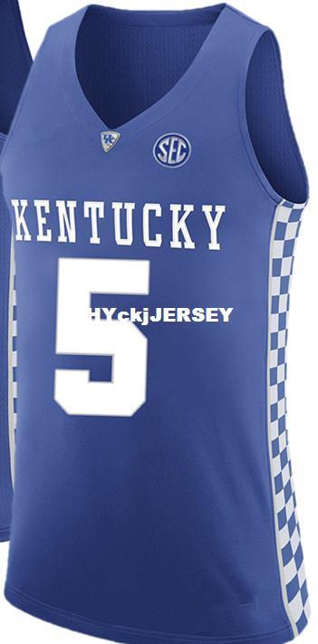 new style f35bd 98c12 5 Kevin Knox Kentucky Wildcats Retro Top stitched basketball jerseys  Customize any number and name XS-6XL vest Jerseys NCAA