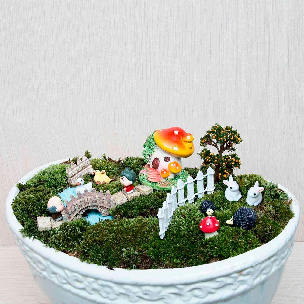 2019 Set Micro Landscape Home Bonsai Diy Doll House Model