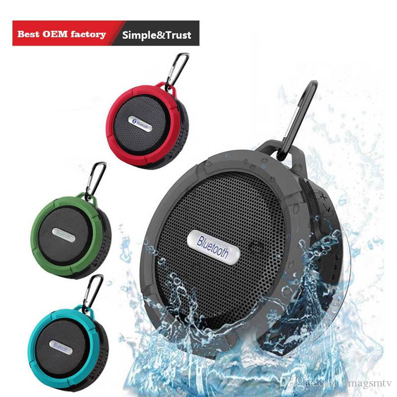 C6 Outdoor Sports Shower Portable Waterproof Wireless Bluetooth Speaker Suction Cup Handsfree MIC Voice Box For iphone 7 iPad PC Phone