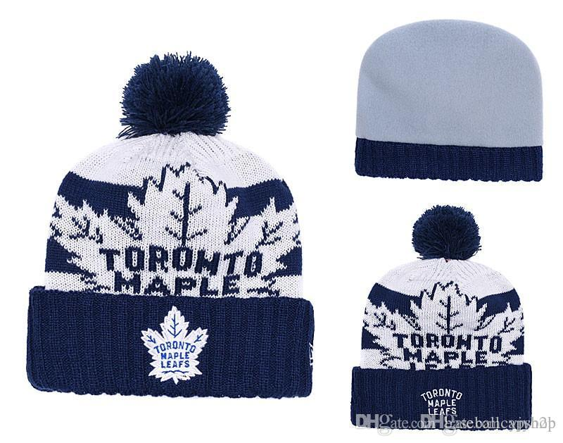2019 NEW Men S Toronto Maple Leafs Knitted Cuffed Pom Beanie Hats Striped  Sideline Wool Warm Hockey Beanie Cap Men Women Bonnet Beanies Skul From  Yjyb2b 244dca5c0e1